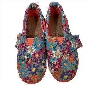 Toms Ash Daisy Canvas Bimini Shoe Size T11